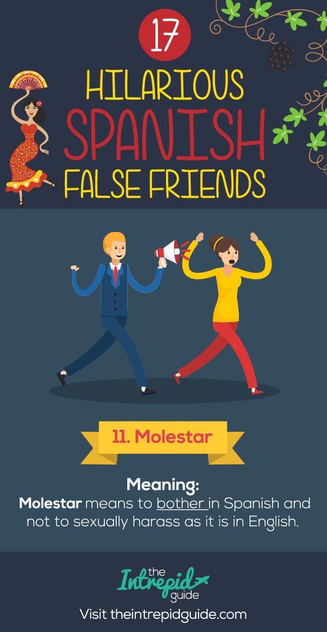 False Friends in Spanish False cognates - Molestar