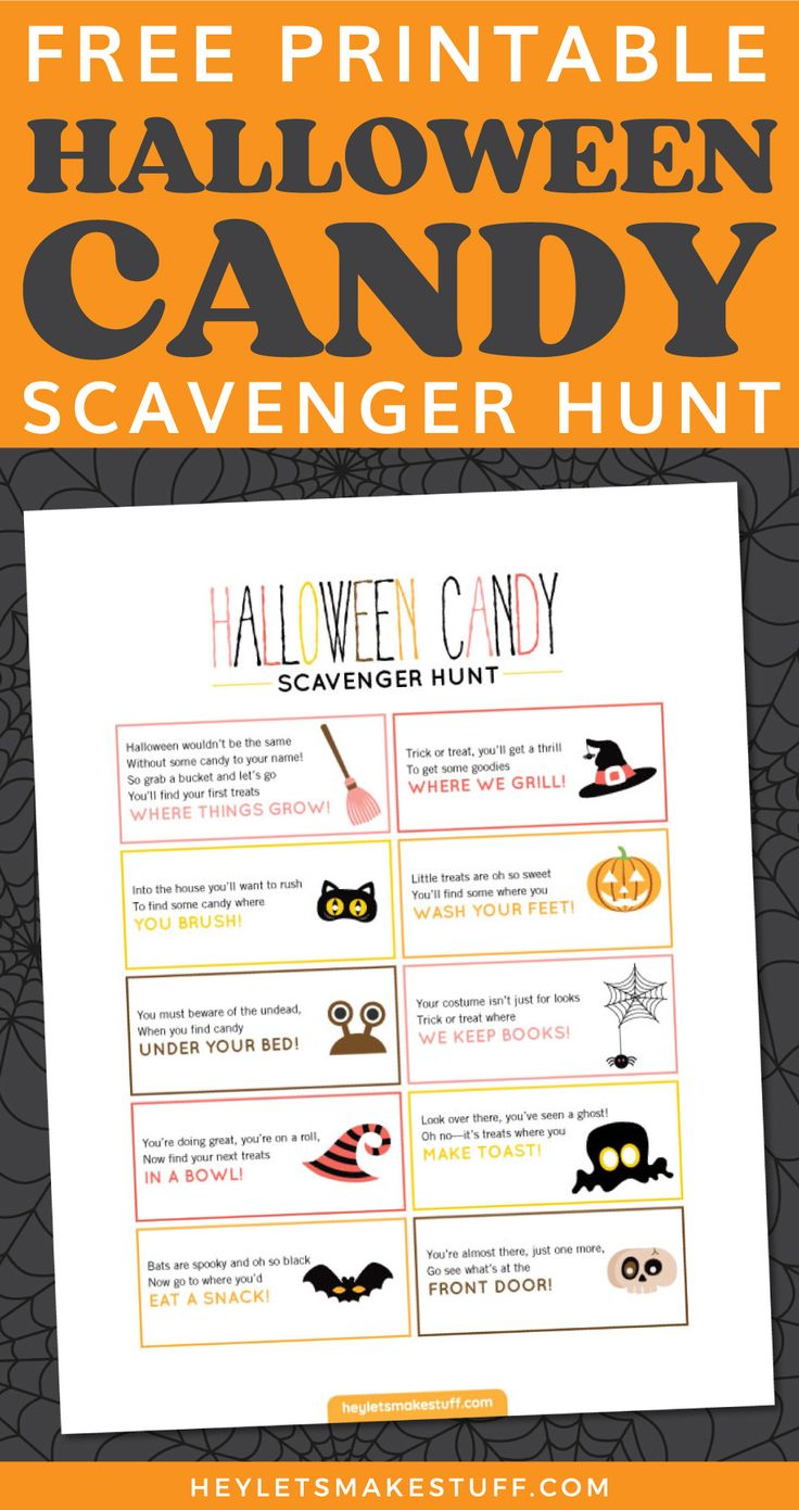 Pin by Abby Laird on Kids Halloween Party Scavenger hunt