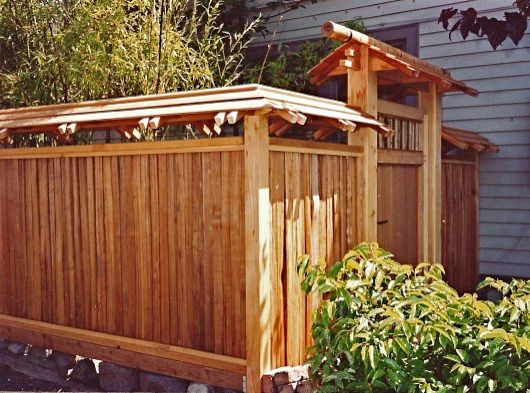 how to build a japanese garden fence