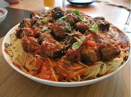 pasta gerechten Spagheti met gehaktballetjes