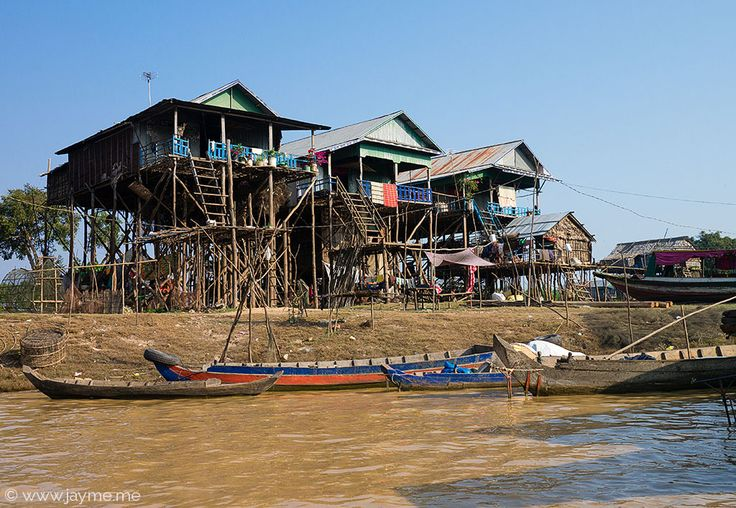 Kampong Phluck Floating Village on Tonle Sap Lake, Cambodia