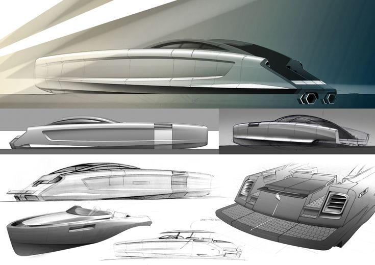 Aerospeed Superboat Sketches