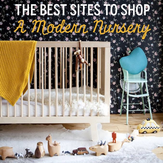 10 Favorite Sites to Shop a Modern Nursery Design. Click through for the details.   glitterinc.com   @glitterinc