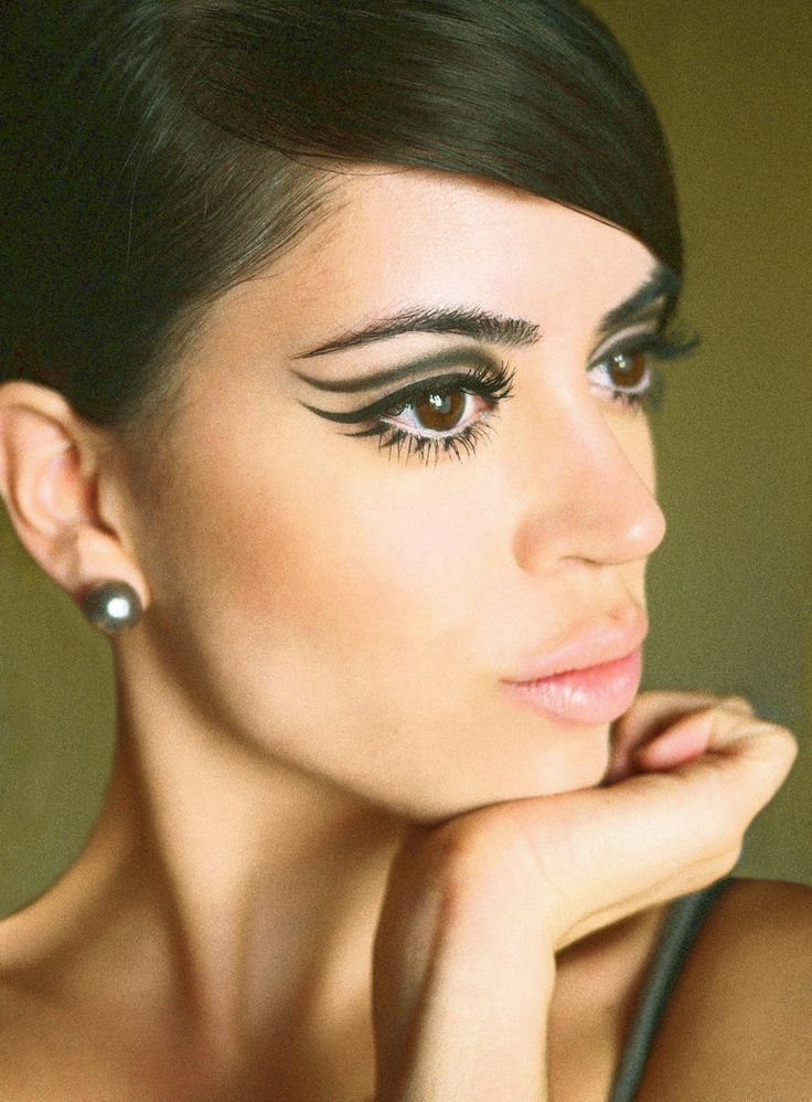 Image result for 1960's hair and makeup styles