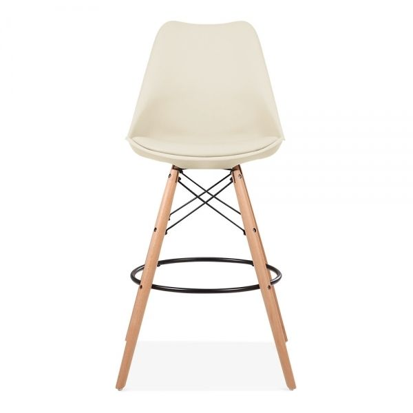 Soft Pad Bar Stool With Backrest