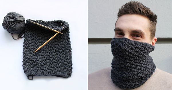 Knitting loop scarf yourself: This DIY idea for the friend is just awesome!