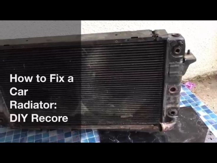 How to fix a radiator leak. DIY Radiator Recore