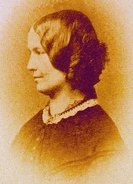 Charlotte Brontë (born 21 April, 1816; died 31 March, 1855), in a photograph made in 1854; in the collection of the Brontë Museum at Haworth Parsonage