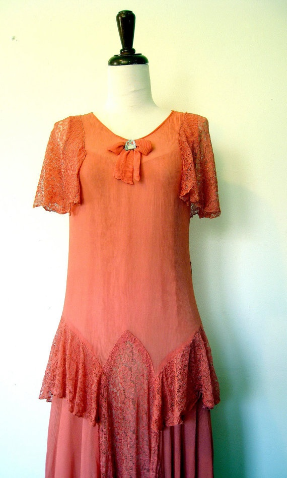 Coral Flapper Dress