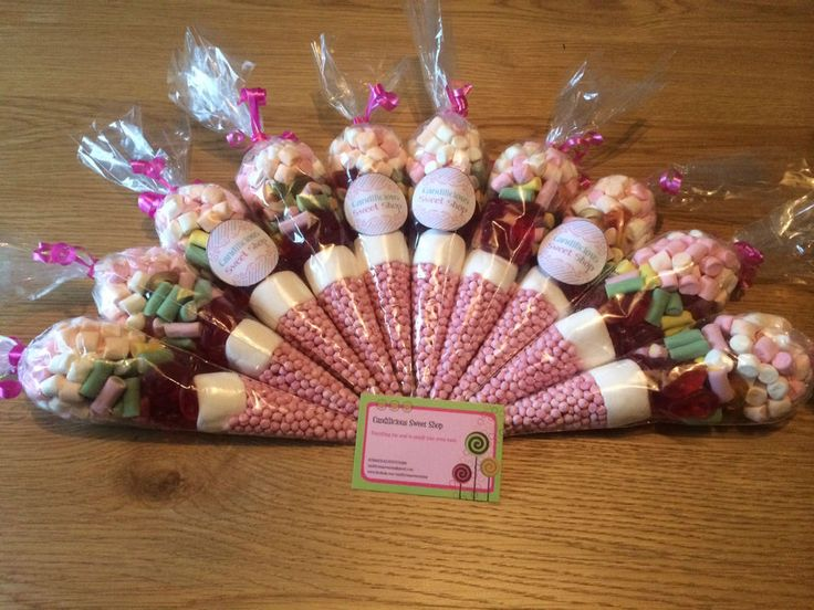 Pre Filled Sweet Cones Personalised Hen Party Wedding Favour Bag