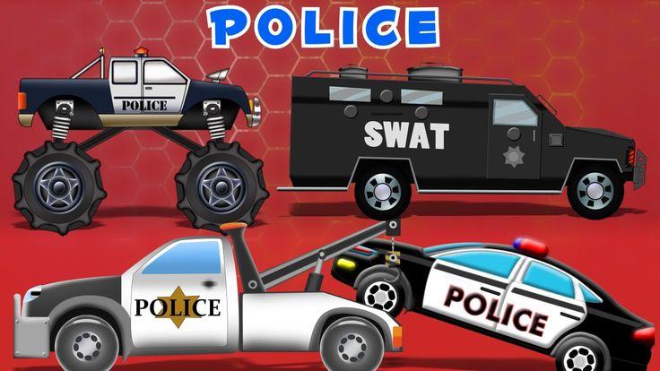 Police Car Compilation | 60mins  Video For Kids :