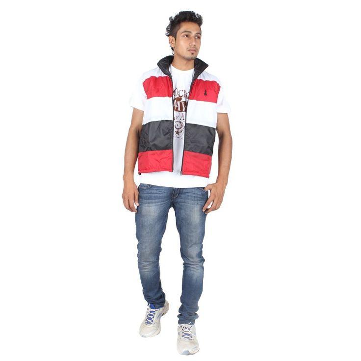 Posh 7 Multi Half Sleeve Jacket #onlineshopping http://goo.gl/rGJQT8