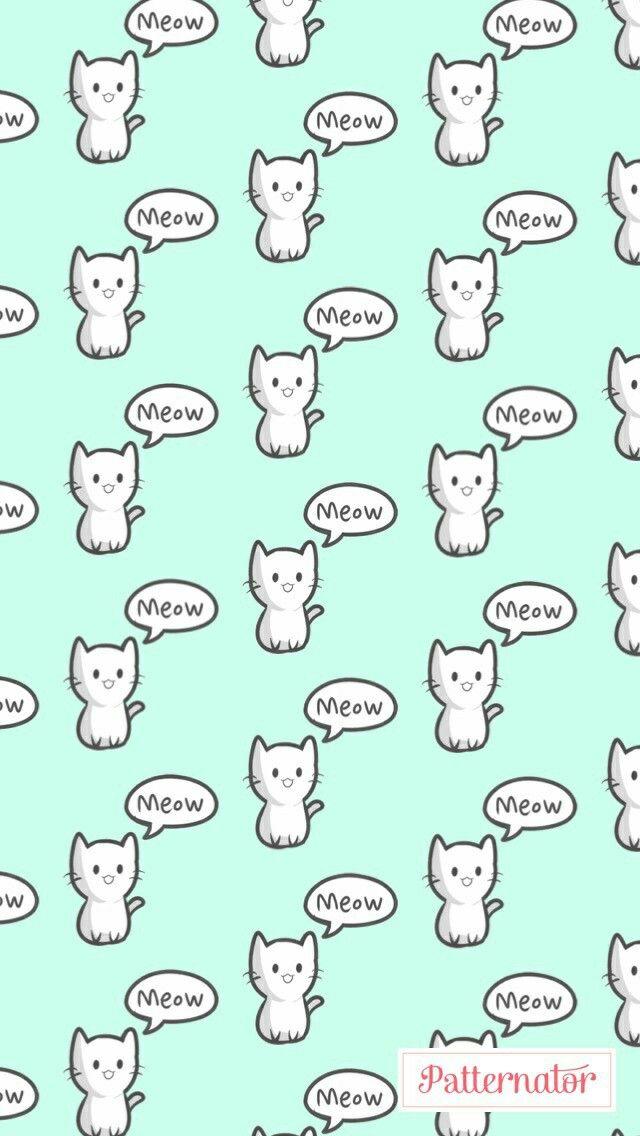 Patternator, meow, gatinho, fofo, wllp,  papel de parede para celular, padrões