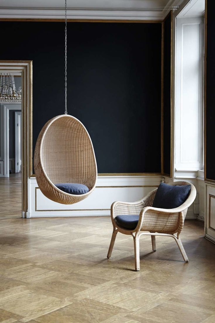 hanging egg chair at