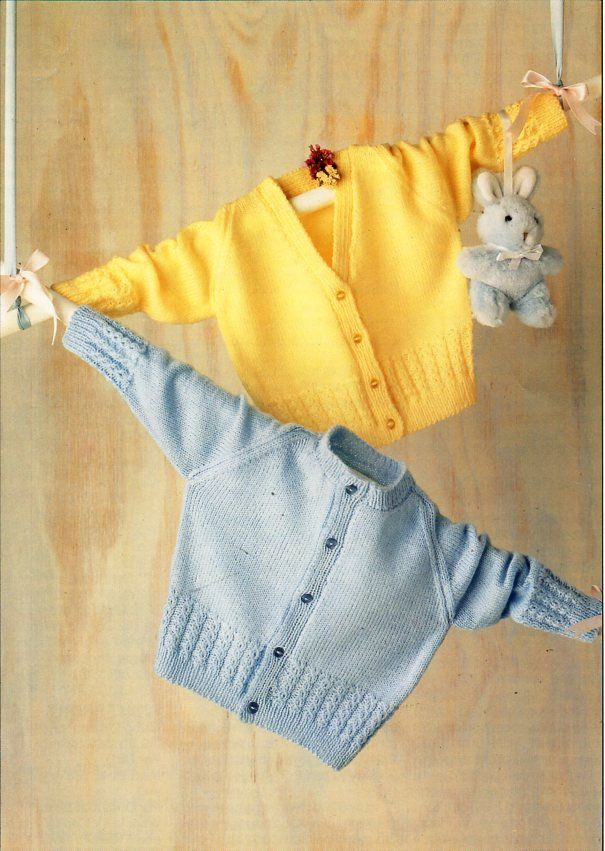 de2bdc416 Baby cardigan knitting pattern pdf baby 4ply jacket v or round neck ...