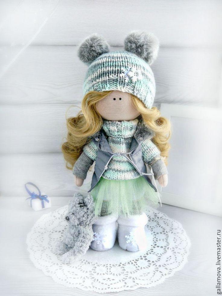 Купить Кукла Милена - серебряный, кукла ручной работы, кукла, кукла в подарок, кукла интерьерная