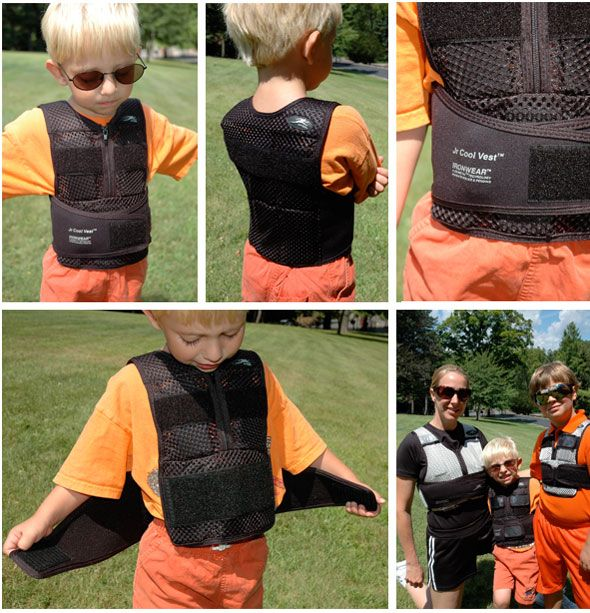NEW Black Jr. Cool Vest™ (Child's weighted vest) (Supplied at 3.25 lbs. with 11- 1/4lb weights)