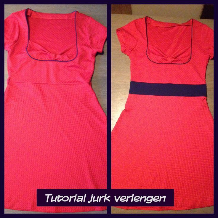 jurk verlengen vanuit de taille, fototutorial, stap voor stap tutorial