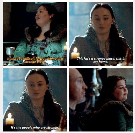 You tell those fuckers, Sansa!