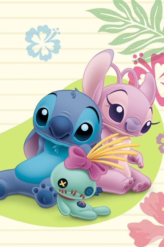 disney iphone wallpaper | Disney Wallpaper - Stitch and Girlfriend - 640x960