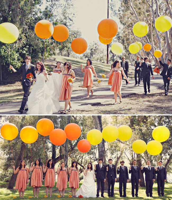 cute wedding - i like the big balloons and table decorations