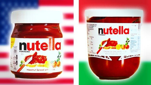 Nutella's formula may or may not vary from country to country.   13 Things You Didn't Know About Nutella