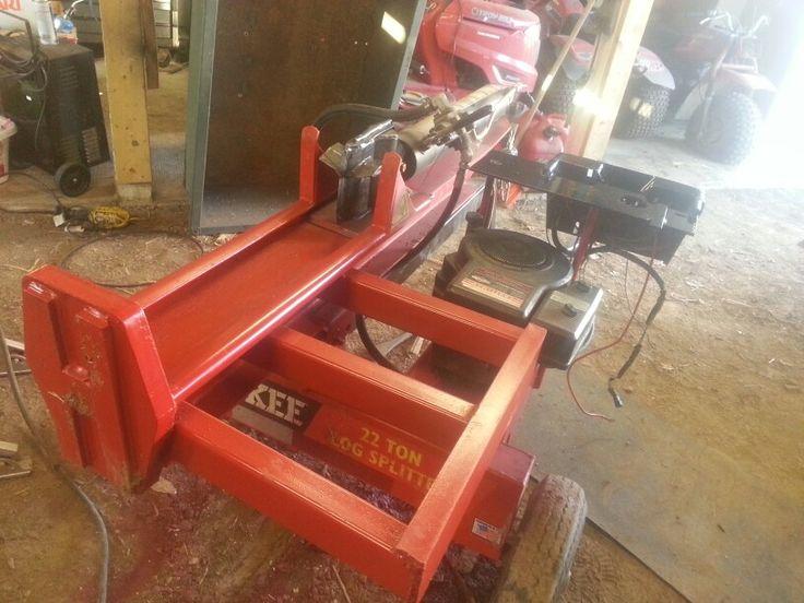 modified huskee 22 ton wood splitter
