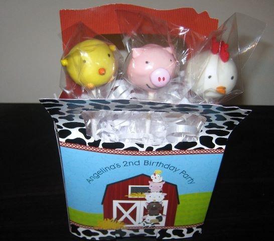 Barnyard animal cake pops