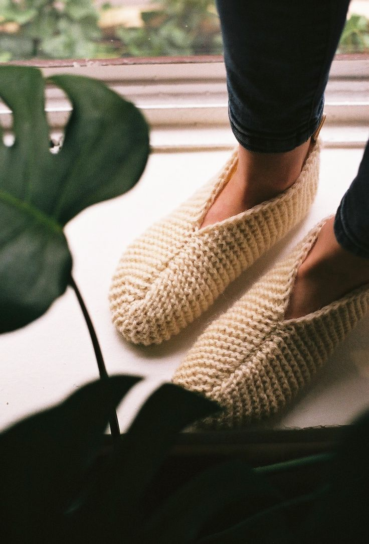 Gift ideas: hand-knitted Woolen Slippers (10% off)