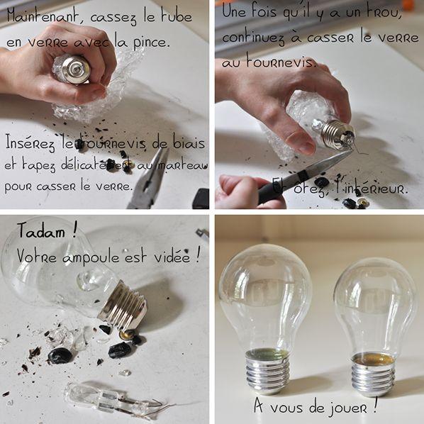 Ampoule recyclé en deco