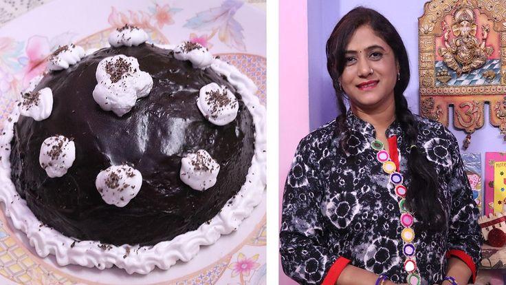 3 Min Eggless Oreo Cake in Microwave ( in Hindi ) Recipe by Jyoti Sachde...