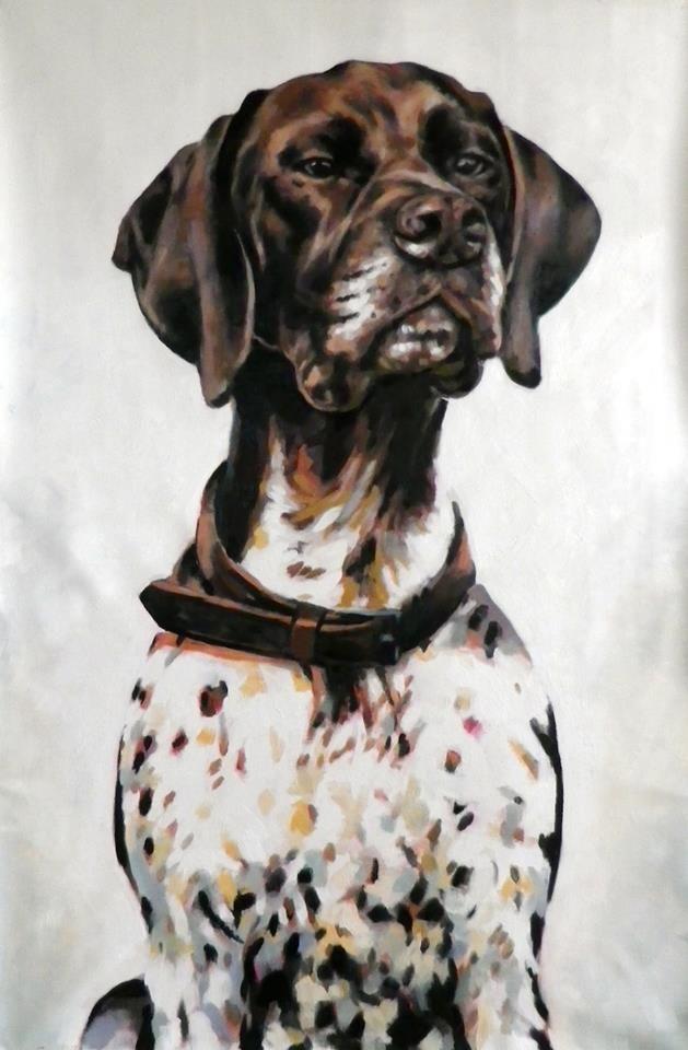 Socrates - Thomas Saliot #dog #art #painting