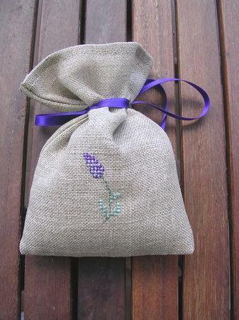 Lavendel-Säckchen als Gastgeschenke (für die Damen)