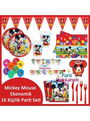 Mickey Mouse Ekonomik Parti Seti (16 Kişilik)