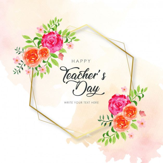Happy Teacher S Day Hexagon Frame Happy Teachers Day Teachers Day Wishes Teachers Day Poster