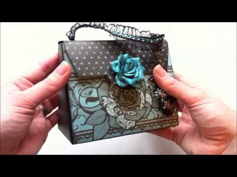 How to fold an umbrella for a wedding or baby shower or Mother's Day card - YouTube