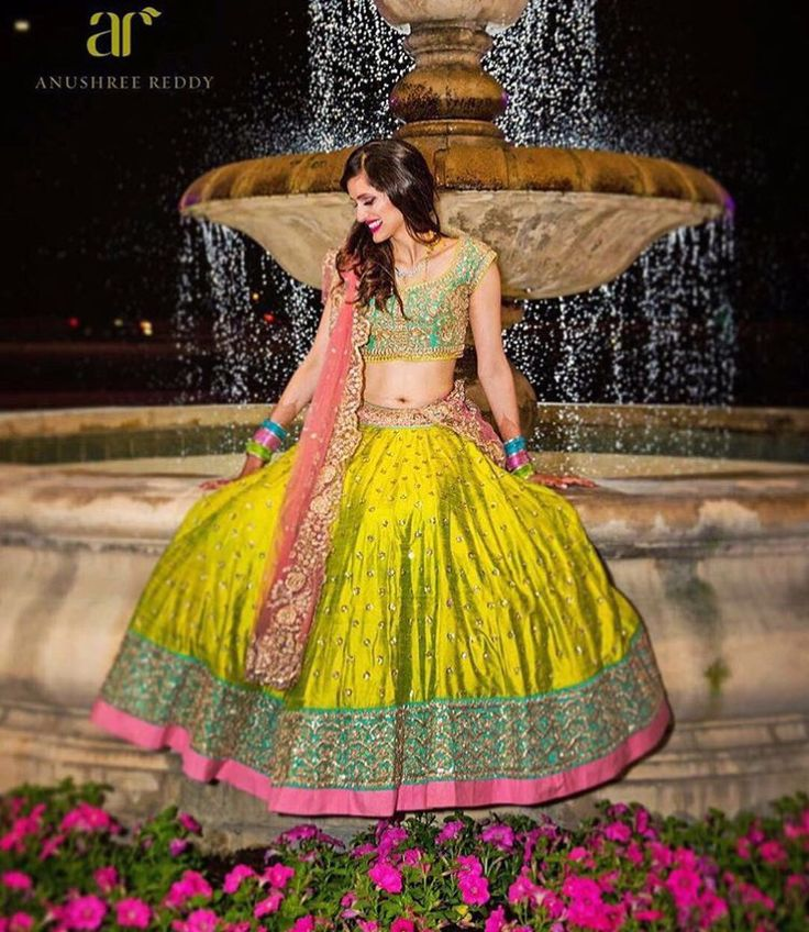 Anushree reddy # modern bride # vibrant look # lehenga