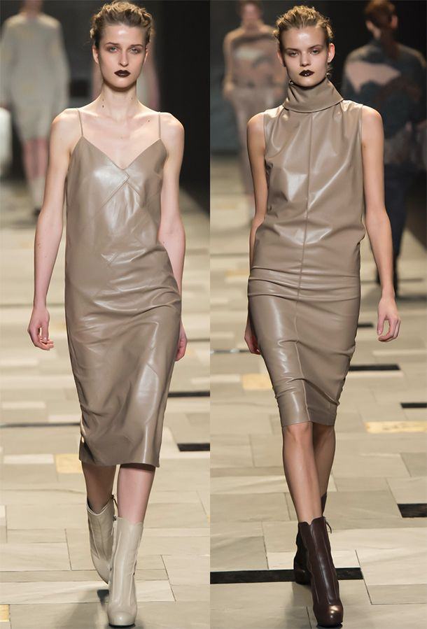 Trussardi – кожаные платья