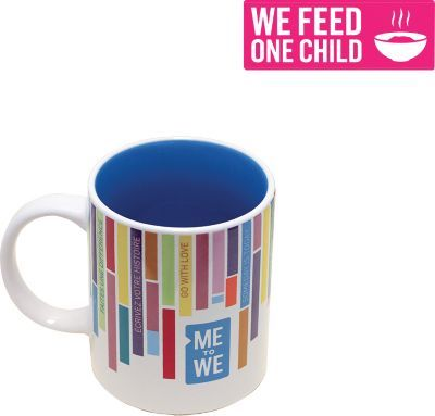 Me to We Ceramic Mug  Every purchase of a Me to We product makes a positive impact in a Free The Children community overseas, like clean water, school supplies and healthy meals. Look for your unique impact code on every product, and enter it online at TrackYourImpact.com to see where in the world you helped make a difference.