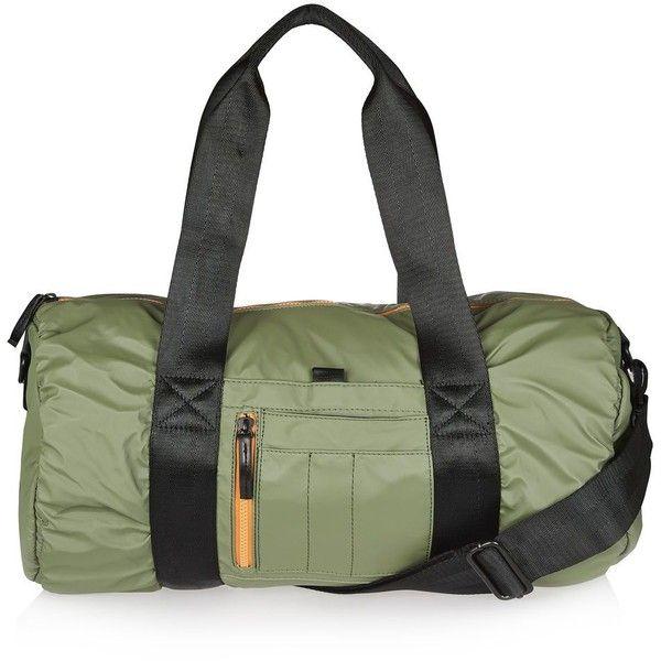 Topshop Hayden Bomber Barrel Bag (36 CAD) ❤ liked on Polyvore featuring bags, handbags, shoulder bags, barrel bag, topshop handbags, pu handbag and topshop purses