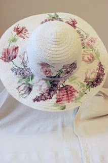 do-deco: #altered hat with #napkin art #decoupage