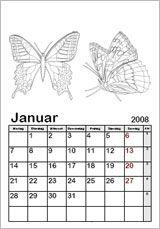Ausmalkalender-Vorlagen