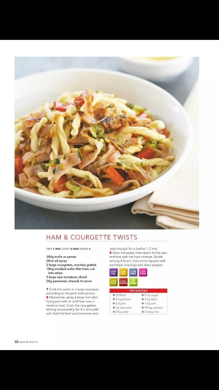 41 best recipes images on pinterest recipe collection delicious ham and courgette twists pasta recipe collection healthy food guide page 32 forumfinder Gallery