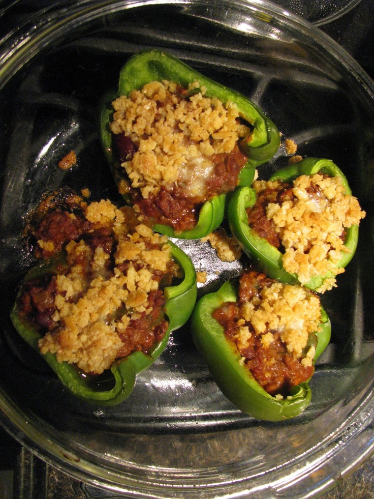 A Leftover Makeover: Stuffed Peppers with Leftover Chili Recipe