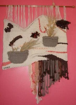 tapiz pared - naturaleza recogida tapiz lana,algodon,seda alto lizo