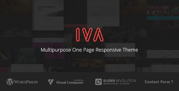 Iva - Multipurpose One Page Responsive Theme - Creative WordPress
