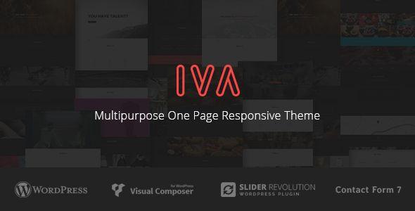Iva - Multipurpose One Page Responsive Theme - Creative WordPress