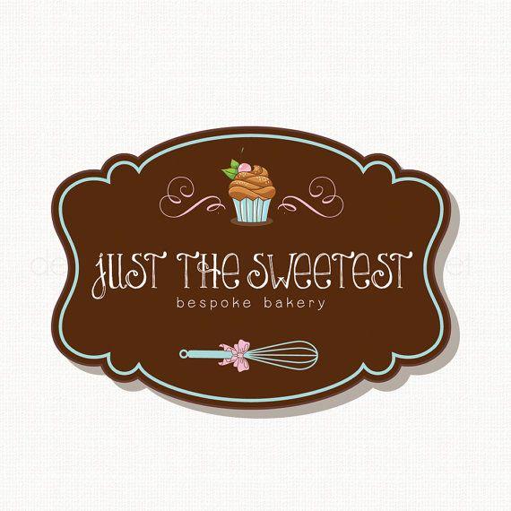 Cupcake Logo Design Bakery Logo Design Whisk Logo Design
