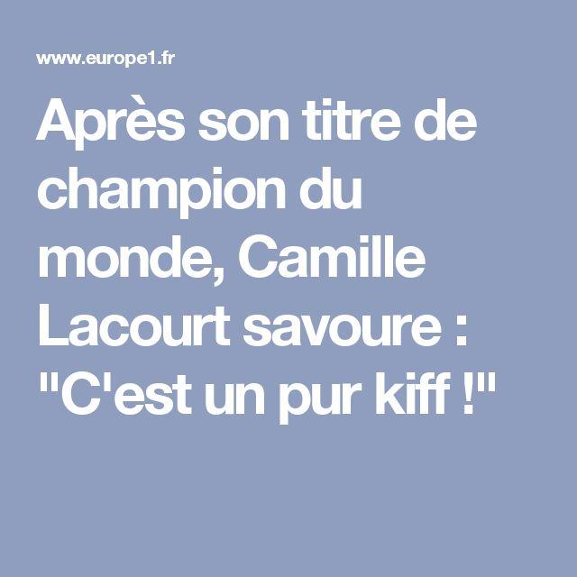 """Après son titre de champion du monde, Camille Lacourt savoure : """"C'est un pur kiff !"""""""