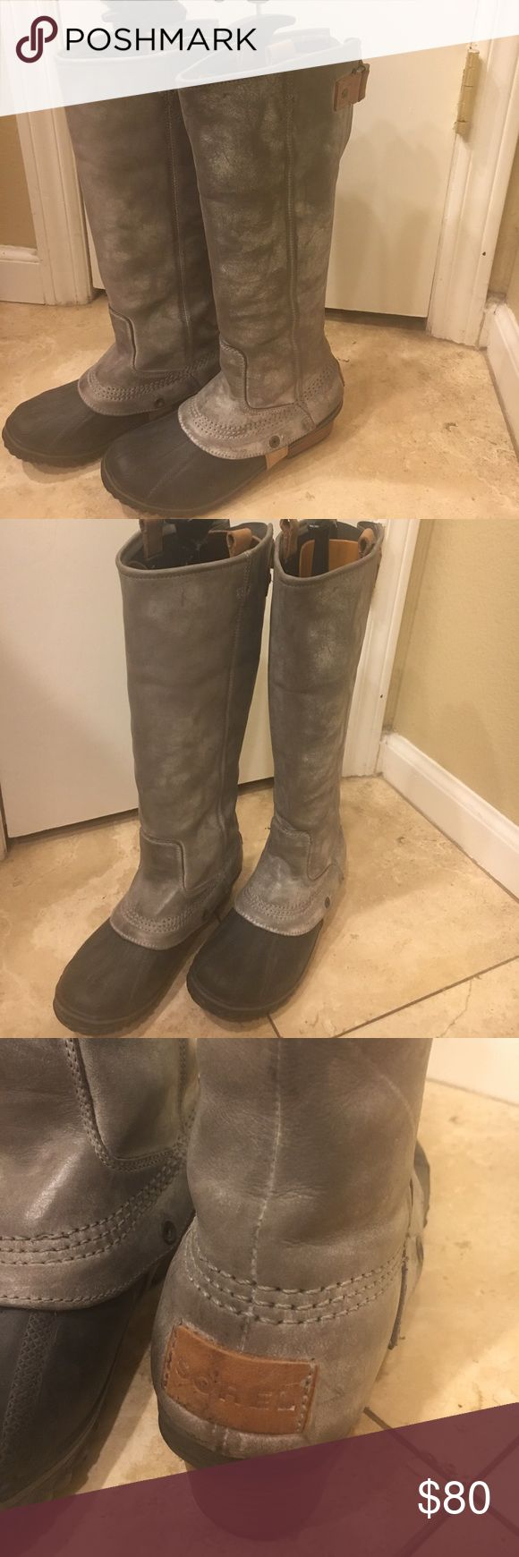 Sorel duck boots Gray Brand new Grey Sorel Duck Boots great for barn snow and other outdoor activities in the winter time Sorel Shoes Winter & Rain Boots